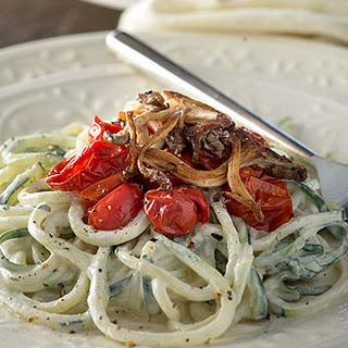 Cucumber Noodles with a Dijon Tarragon Vegan Cream Sauce