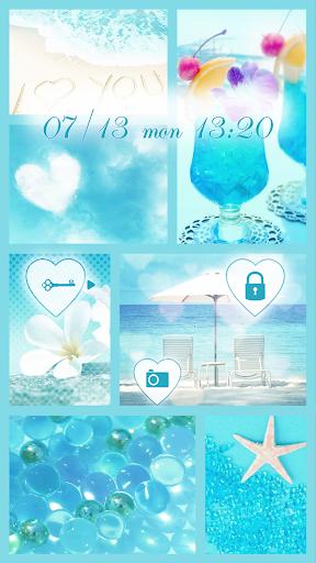 玩免費個人化APP|下載可愛換裝桌布★I love Blue app不用錢|硬是要APP