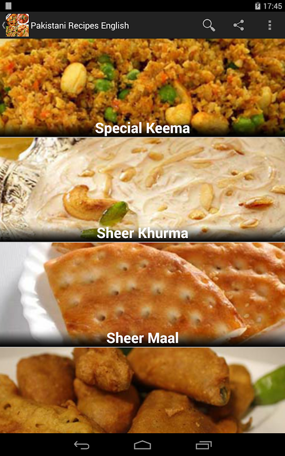 Pakistani Recipes In English Screenshot