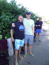 Photo: Me and Nick Adams swimming at the Serpentine Swimming Club in Hyde Park.