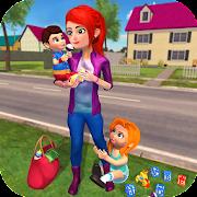 عائلة سعيدة أشقاء مجالسة الاطفال مانيا لعبة هوس APK