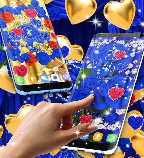 Blue golden rose live wallpaper 8.1.1 screenshots 6