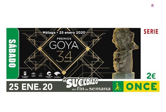El cupón de la ONCE estuvo dedicado a la 34 edición de los Premios Goya.