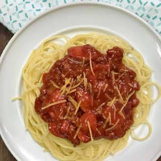 Filipino-style Spaghetti.