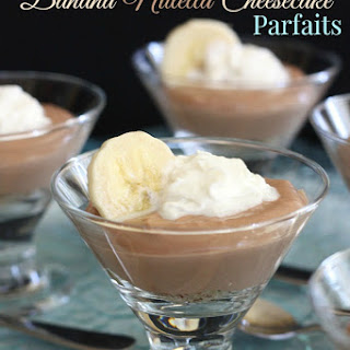 Mini Banana Nutella Cheesecake Parfaits.