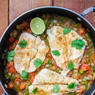Spicy Creole Flounder