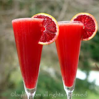 Bubbly Blood Orange Campari Cocktail.