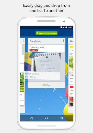 Screenshot 2 for Trello's Android app'
