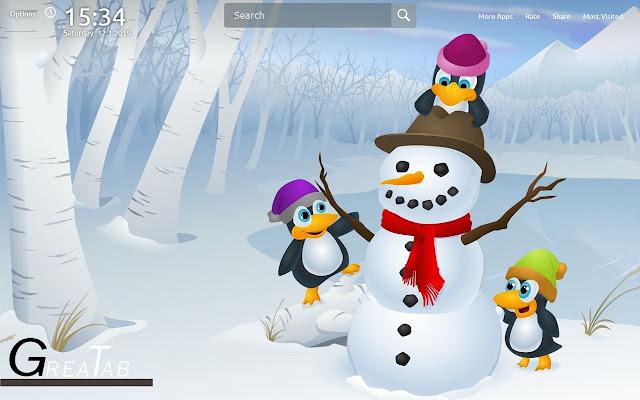 Snowman Wallpapers Snowman Theme GreaTab