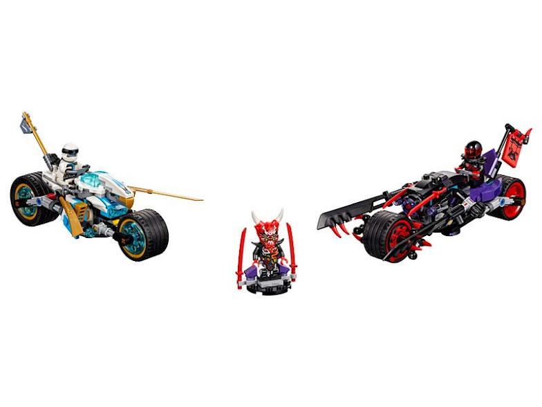 Contenido de Lego® 70639 Carrera Callejera del Jaguar-Serpiente