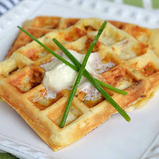 Bacon Potato Cheese Waffles.