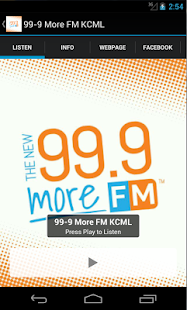 99-9 More FM KCML- screenshot thumbnail