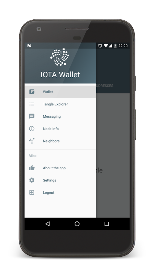 IOTA Wallet (BETA)- screenshot