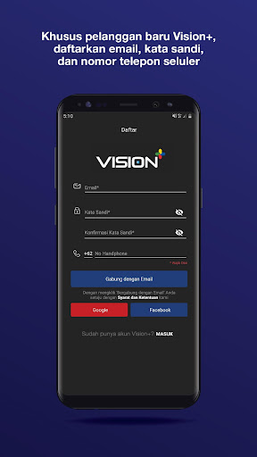 Vision+ : Nonton TV & Film Streaming modavailable screenshots 2