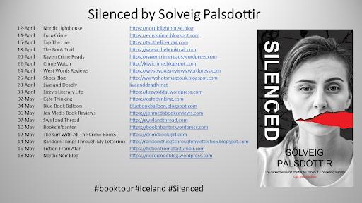 #BlogTour- Sólveig Pálsdóttir- Silenced (tr. Quentin Bates)