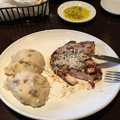 Tuscan grilled chicken with garlic mashed potatoes!