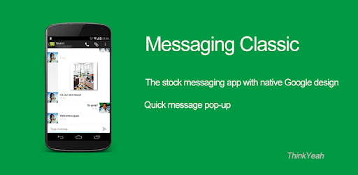 The stock messaging app with native Android design