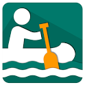 Canoeing navigation icon