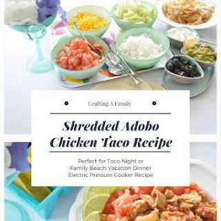 Electric Pressure Cooker Shredded Adobo Chicken.
