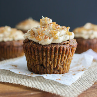 Pumpkin Molasses Cupcakes with Salted Caramel Frosting