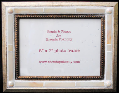 "MOF1463 5"" x 7"" Cream and Pearl Mosaic Photo Frame"