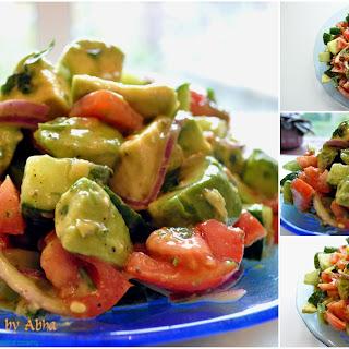 Avocado, Tomato and Cucumber Salad