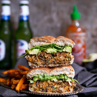 Vegan Curry-Spiced Sweet Potato & Wild Rice Burgers