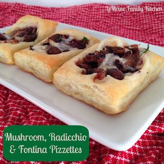 Mushroom, Radicchio & Fontina Pizzettes