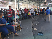 People waiting for  taxis to the Eastern Cape  hours before the national lockdown.