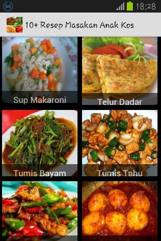 10+ Resep Masakan Anak Kos