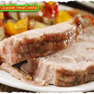 Pork Steak with Potato 'Pears' Recipe