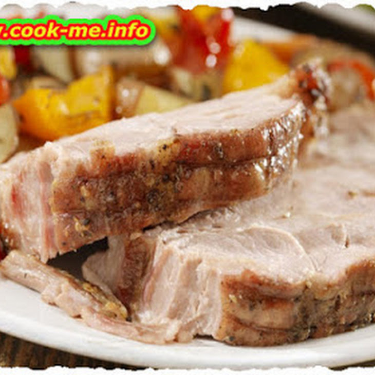Pork Steak With Potato 'pears'