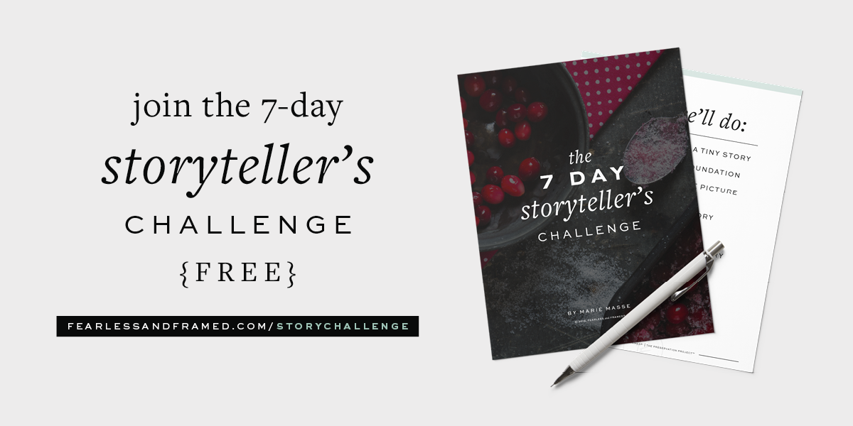 Join the 7 Day Storyteller's Challenge to Document Your Life