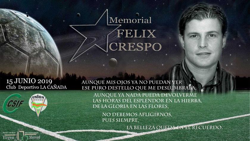 Cartel del memorial Félix Crespo.