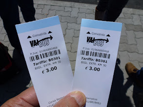 Photo: bus tickets - Pisa Airport to Lucca