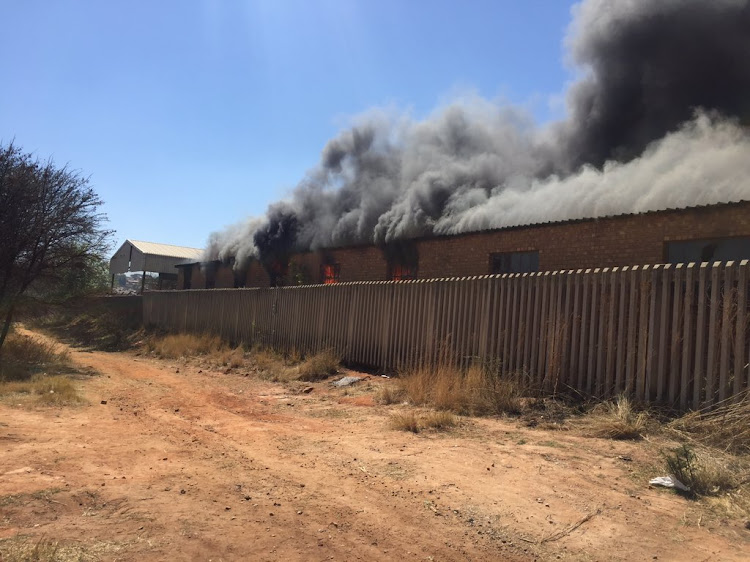 Pikitup's Central Camp depot was set alight by protesters on August 30, 2018.