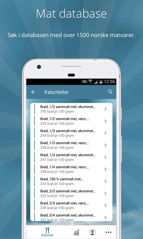 kaloriteller app Kongsberg