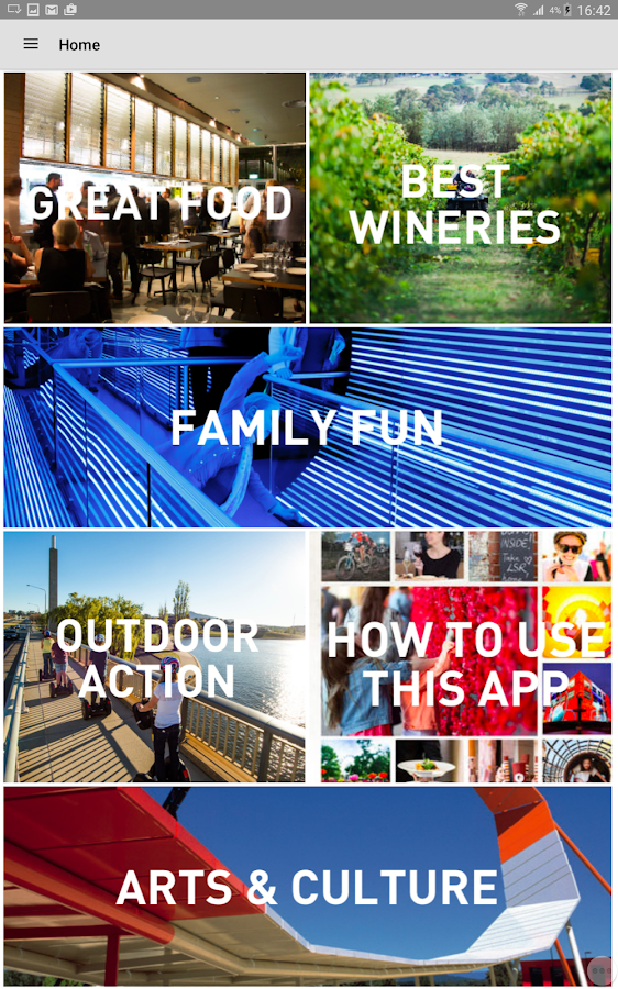 Canberra Visitor Guide- screenshot
