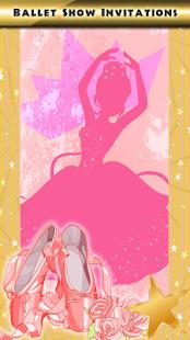 Pozvánky na baletní show - náhled