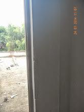 Photo: Showing crack on First Floor outside door- will be repaired. Builder : Nanak Builders, Mr. Virender Batra