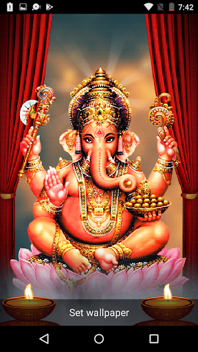 5D Ganesh Live Wallpaper - Lord Ganesh, Hindu gods 1.0.3 screenshots 2