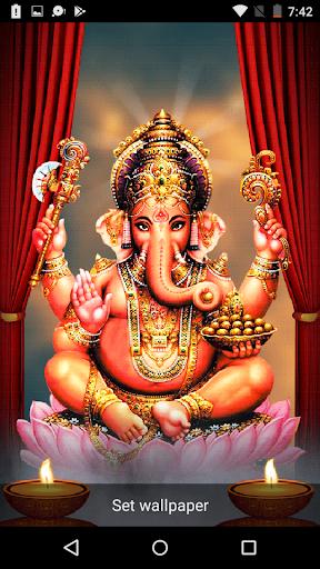 5D Ganesh Live Wallpaper - Lord Ganesh, Hindu gods 1.0.3 screenshots 2