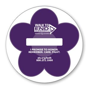 These beautiful purple flowers are another great way to fundraise for the Walk. Sell them and display them at your place of work, business, or schools! Make it personal and add a small note on why you support the Walk to End Alzheimer's