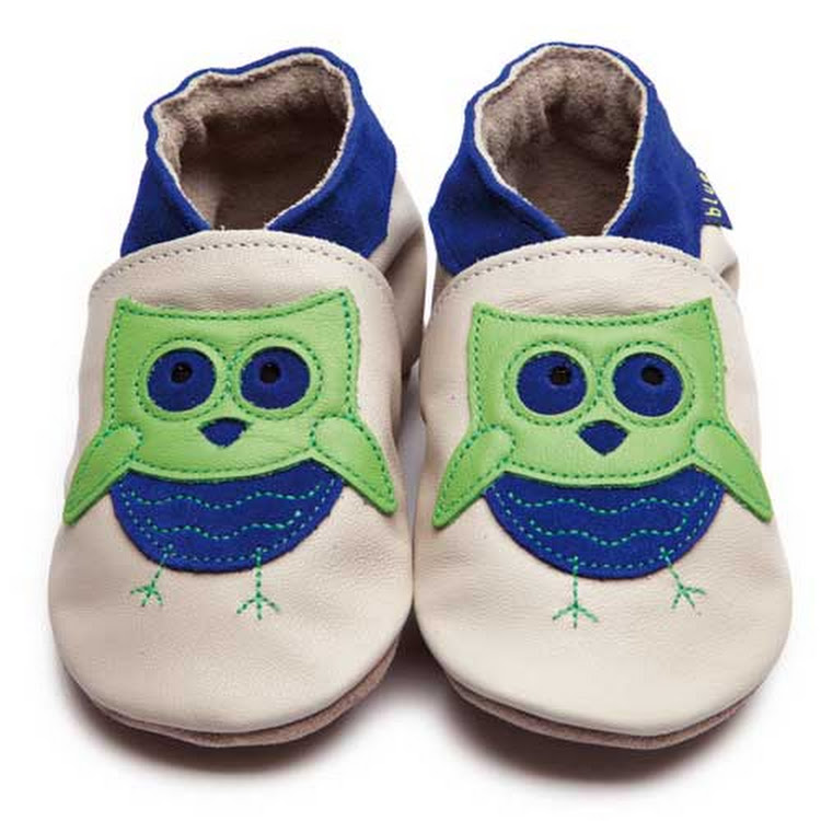 Inch Blue Soft Sole Leather Shoes - Barney Cream Cobalt (0-6 months)