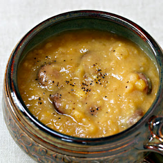 Slow-cooker Yellow Split Pea Soup With Sausage.