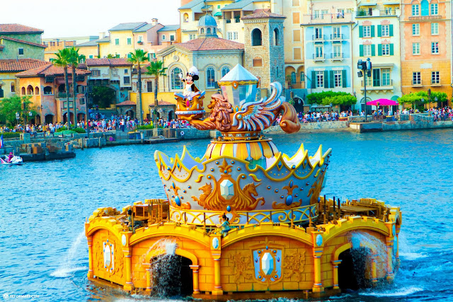 the amazing Legend Of Mythica parade in the Mediterranean Harbor at Tokyo DisneySea in Urayasu, Tiba (Chiba) , Japan
