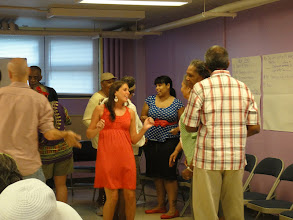 Photo: Working with participants from Manhattanville Senior Center in Harlem during the course EDCE 4600: Applied Theatre - Facilitating Drama and Dramatic Activities in Non Traditional Settings.