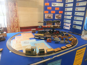 Photo: 006 Some of the minimum gauge delights on offer in a variety of scales on Allen Law and Andy Greenslade's Minimum Gauge Models stand .