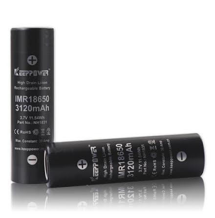 Keeppower Batteri 18650 3120mAh