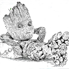 I am Groot....!! by Samriddhi Dutta - Drawing All Drawing ( art, painting, artist, drawing, sketch )